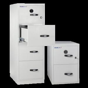 2 Hr Fire Rated 2 U0026 4 Drawer File Cabinet Key + Digital Lock By Chubb Safes