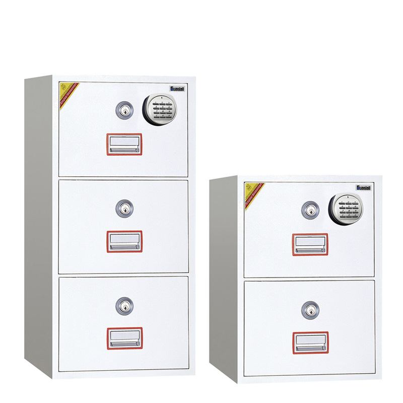1 Hr Fire Rated 2,3 And 4 Drawer File Cabinet, Key + Digital Lock