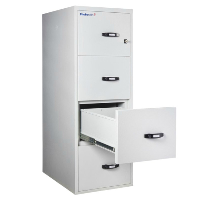 1 Hr Fire Rated 2 U0026 4 Drawer File Cabinet, Key Lock By Chubb Safes