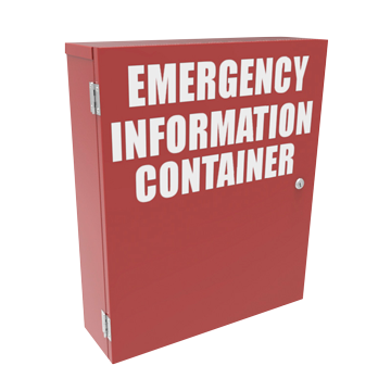 WORK PLACE HEALTH AND SAFETY CABINETS / EMERGENCY INFORMATION CABINETS
